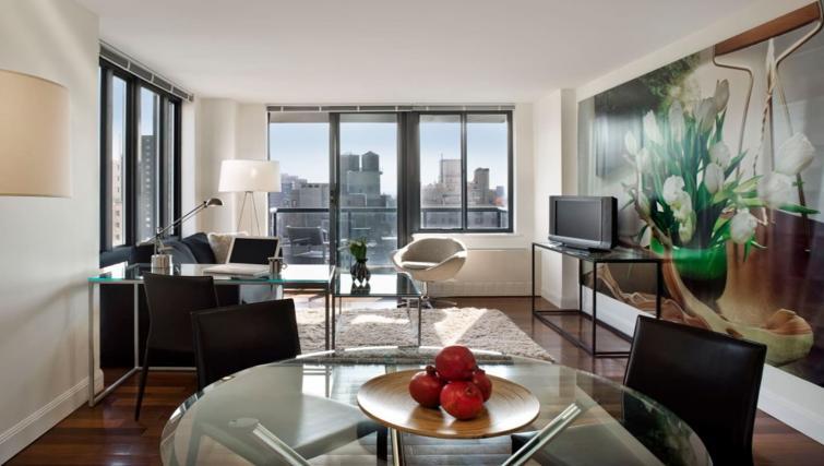 Stylish living area at Instrata Gramercy Apartments